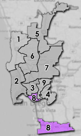 map of city council districts